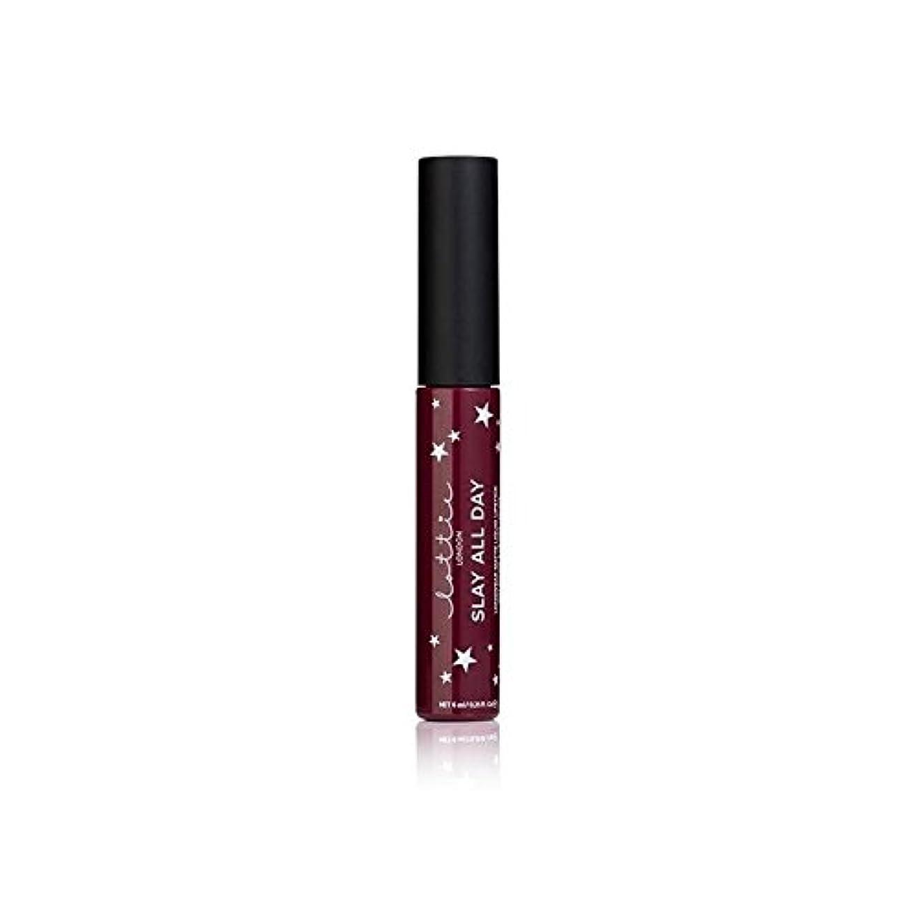操作可能先住民療法Lottie London Matte Liquid Lipstick - Vibes (Pack of 6) - ロンドンマット液状口紅を - バイブ x6 [並行輸入品]