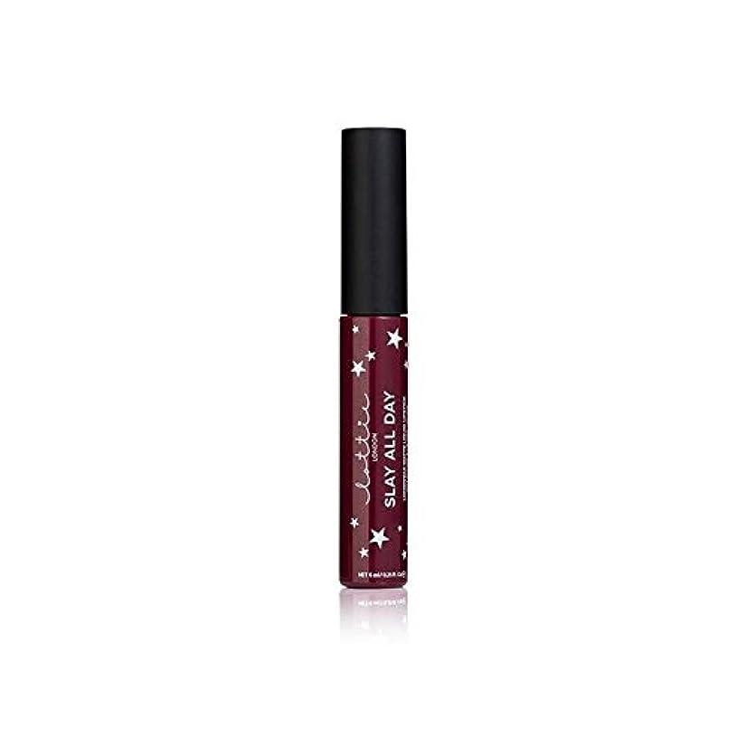 広々とした間クルーLottie London Matte Liquid Lipstick - Vibes (Pack of 6) - ロンドンマット液状口紅を - バイブ x6 [並行輸入品]