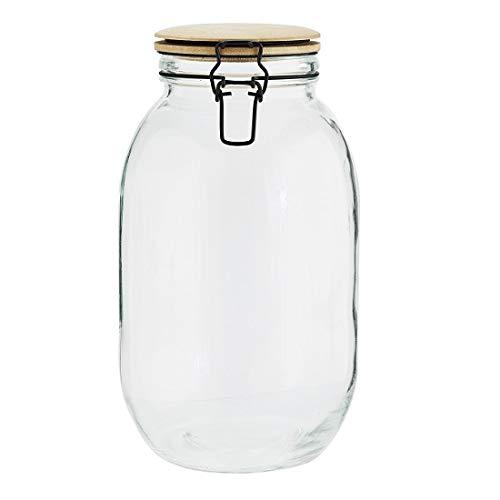 Elwin Neiles/® Tarro de cristal con tapa 3 x 1700 ml Tarros a prueba de polillas con tapa Recipientes de cristal 100/% herm/éticos y apilables