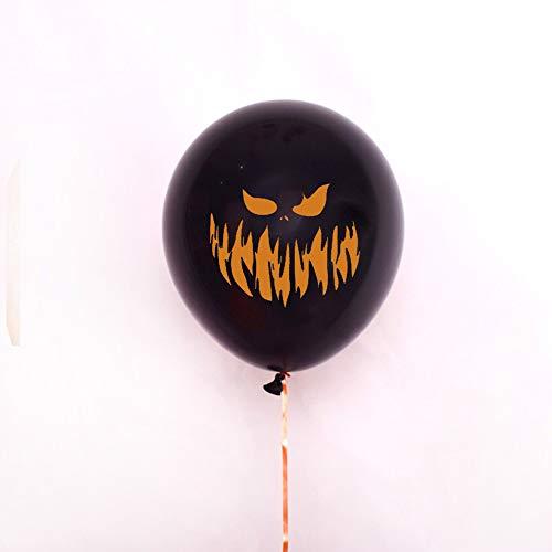Halloween divertente palloncino 40 cm stampa emoji spaventoso zucca palloncino in lattice fantasma modello tinta unita palloncino festa festa palloncino speciale buona qualità, nero