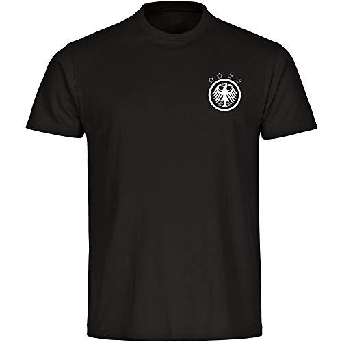 T-Shirt Deutschland Adler Retro Trikot Herren schwarz Gr. S - 5XL - Fanshirt Fanartikel Fanshop Trikot Fußball EM WM Germany,Größe:XXXXXL,Farbe:schwarz