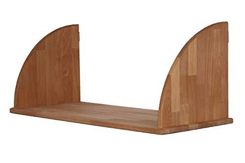 Großes, robustes Wandregal, Massivholz Buche geölt, Hängeregal für große Bücher, Bildbände und Ordner, echtes Holz