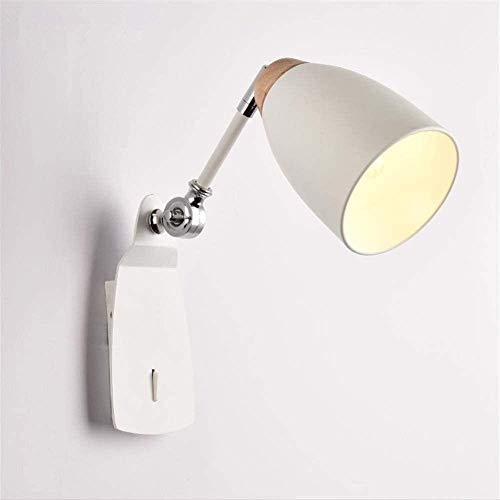 Lámparas de pared Lámpara de pared de metal de madera maciza lámpara de noche de dormitorio lámpara proceso estricto de fábrica lámpara de patio de 20 * 17 cm