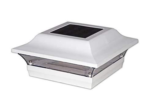 Classy Caps SL211W 4X4 White Aluminum Imperial Solar Post Cap, 4' x 4'