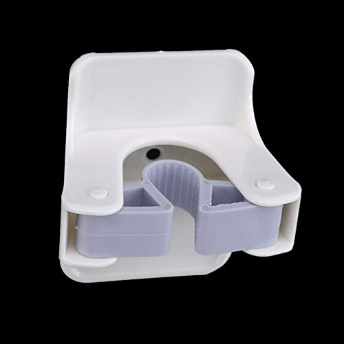 unknow YiYour Büro Besen Organizer Küche Reinigungswerkzeug Lagerung Mop Rack Federclip,Weiß