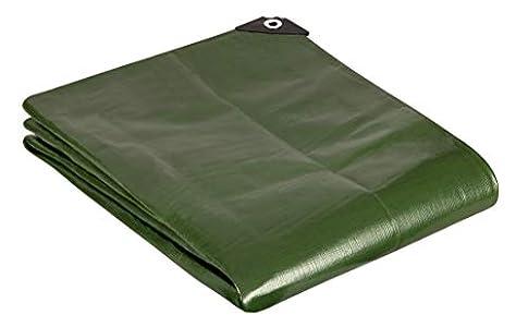 GardenMate 2 m x 2 m 200 g/m2 Lona de protección Premium verde | Funda protectora | Lona impermeable