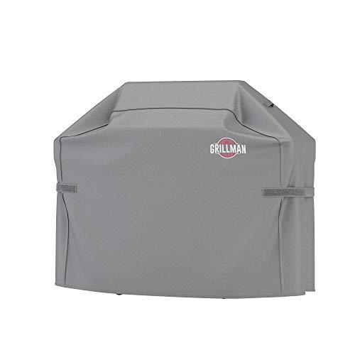 Grillman Premium BBQ Grillabdeckung Heavy Duty Gasgrill Abdeckung für Weber, Brinkmann, Char Broil etc. Reißfest, UV & Wasserfest (64 inch / 163 cm, Grau)