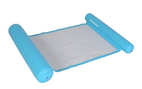Himifuture - Amaca gonfiabile per piscina, lettino galleggiante, divano da acqua, tappetino da spiaggia per piscina, spiaggia, mare, colore: azzurro