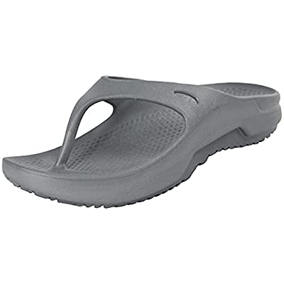 Weweya Men's Post Exercise Active Sport Recovery Thong Sandal Arch Support Comfortable Flip Flops