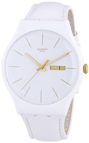 Swatch SUOW703 - Reloj de Pulsera Hombre, Piel