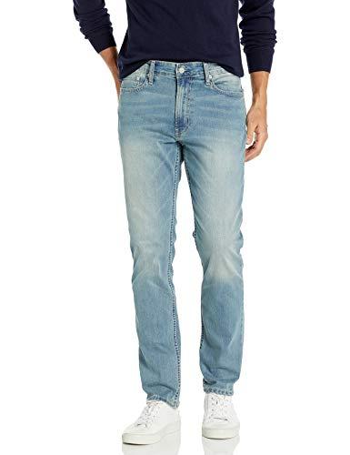 Calvin Klein Jeans Ajustados para Hombre, Plateado (Silver Bullet), 36W x 32L