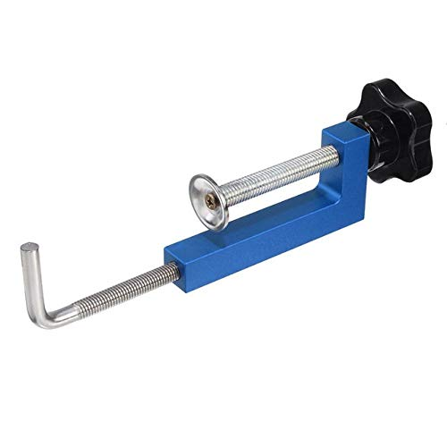 XIARUI Woodworking Machinery Parts Aluminium-Legierung Zaun Clamp Holzbe- Clamp G Clip Dedicated Fixture Adjustable Rahmen Schnelle Festschelle for Holzbearbeitung Bänke Tool Parts (Color : Blue)