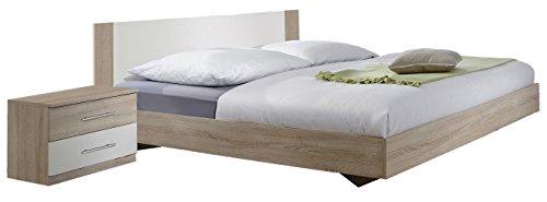 Wimex Schlafzimmer Set mit Bett, Nachttisch/ Nachtschrank 2-er Set Franziska, bestehend aus Bett und Nachtschränken, Liegefläche 180 x 200 cm, Mehrfarbig