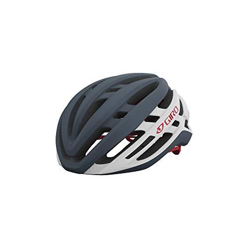 Giro Agilis MIPS Mens Road Cycling Helmet - Medium (55-59 cm), Matte Portaro Grey/White/Red (2021)