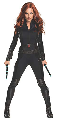 Women's Deluxe Civil War Black Widow Fancy Dress Costume Small