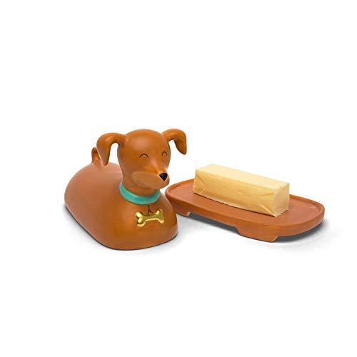 BigMouth Inc BMNY-0036 Ceramic Dog Butterdose, keramik, braun