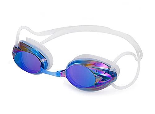 SRXSMGS Schwimmbrille Silikon Männer und Frauen Schwimmen Brille Brechung Wasserdicht Anti-Nebel Outdoor Anti-Ultraviolet Schwimmbrillen (Color : Blue)
