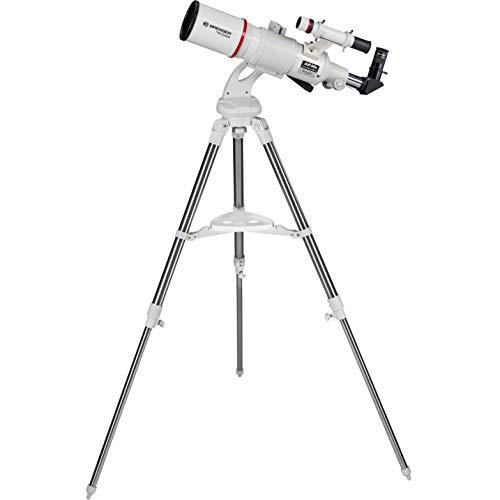 Bresser Refraktor Teleskop Messier AR-90/500 Nano AZ mit azimutaler Montierung und Edelstahl Dreibein-Feldstativ