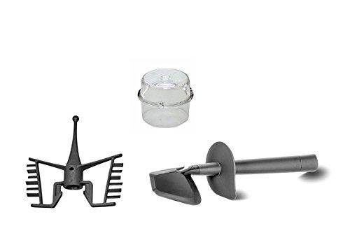 Bimby TM31 - Recambios adaptables con espátula + mariposa + tapón medidor
