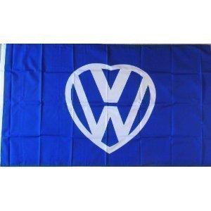 White Ensign 3Ft I Love VW–Flagge Banner Dekoration