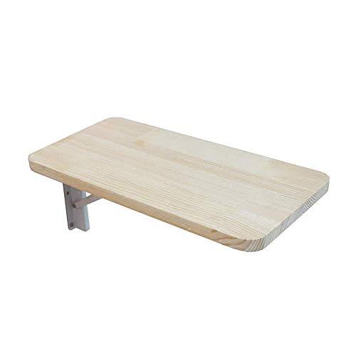 XING ZI Folding table X-L-H Klapptisch - Wandbehang, Massivholz Computertisch, Home Schlafzimmer Wand Esstisch, Perforierte Installation, Multi-Size (größe : 60x40CM)