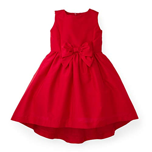 Hope & Henry Girls' Red Dress with Front Bow