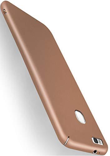 MoEx® Funda Trasera [Ultrafina] Compatible con Huawei P9 Lite | Metálico Mate doré