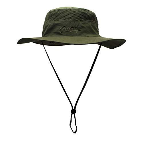 DöllSonnenhut Hut Unisex Fashion Outdoor Bucket Hat Einfaches Visier Angeln Sommer Baumwolle Jagd Männer Frauen ReisenUrlaub Camping Cap ArmyGreen