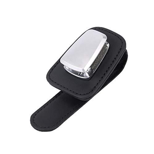 Allowevt Soporte De Gafas para El Clip De La Visera del Coche Clip del Titular De Tarjeta del Cuero De La Aleación De Aluminio De La Visera Soporte De Múltiples Funciones De Las Gafas De Eco Friendly