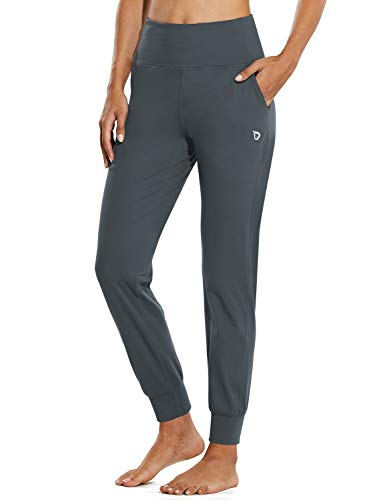 BALEAF Women's Workout Joggers Buttery Soft Athletic Running Jogging Pants Pockets Lounge Gym Plus Size Grey Size 20-22 XXL