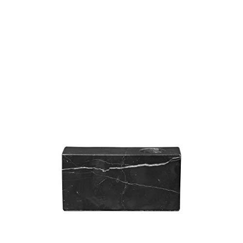 Marmer kandelaar -BLOC- Black