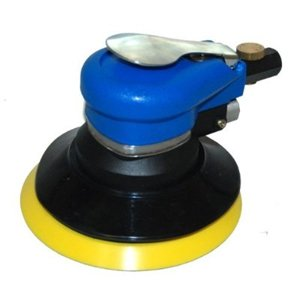 TCP Global Brand 6' Dual Action D.A. Palm Sander with Pad, Air Powered, (1/4' NPT)