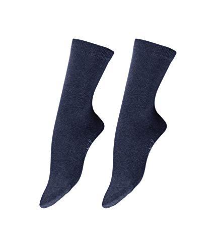 Falke Damen Socken Family 3er Pack, Größe:39-42;Farbe:Navy Blue Melange (6499)