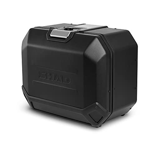 Shad D0TR47100LB Maleta Lateral Izquierda TR47L Terra Edition, Black Aluminio