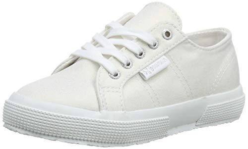 Superga Unisex-Kinder 2750-jerseyiridescentfrostj Gymnastikschuhe, Weiß (Full White A00), 23 EU