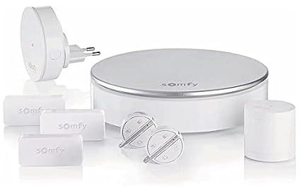 Somfy 2401497 Home Alarm, Alarma para casa, Sistema inalámbrico anti robo, Compatible con Alexa, Google Assistant y TaHoma, Gris Plateado