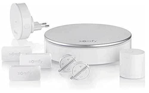 Somfy Protect Home Alarm 2401497, Kit Antifurto wifi completo per la casa, con Sensori di Allarme pre-intrusione, App compatibile con Android/Ios, Bianco