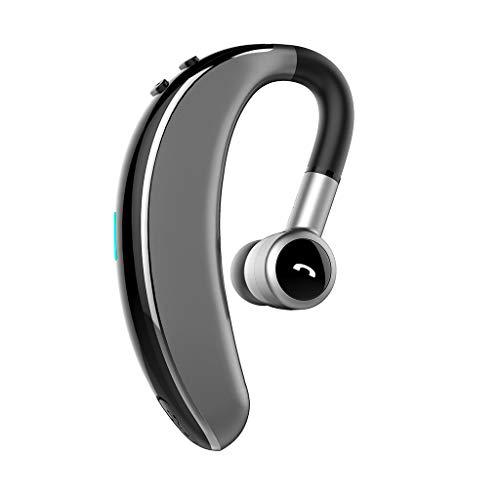 OYSOHE Auricular inalámbrico Bluetooth Auricular estéreo Movimiento Giratorio de Auriculares a 180 Grados Universal de Manos Libres (Plata)