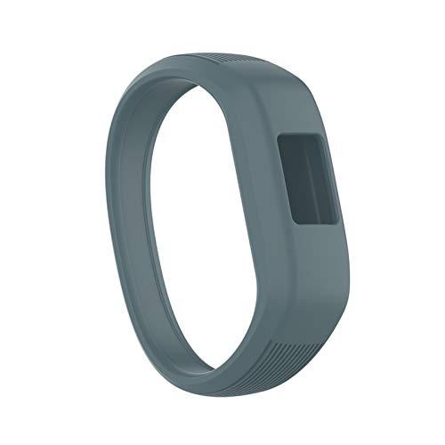 LXF JIAJU Niños Suaves Silicone Smart Watch Band Sports Reemplazo De Pulseras Pulsera Correa De Muñeca para Garmin VIVOFIT JR 2 / VIVOFIT 3 (Color : Gray, Size : S)