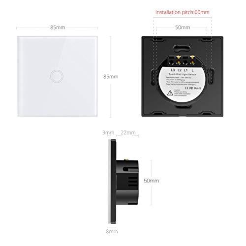 Wandeinbau-Lichtschalter Touchscreen-Schalter Standard-Led-Licht Berührungssensor-Schalter Unterbrecher Glasscheibenmodul