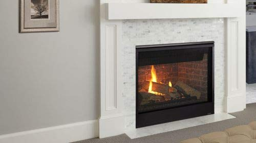 Buy Bargain Monessen 42 Meridian Platinum DV Gas Fireplace w/Black Decorative Front - NG