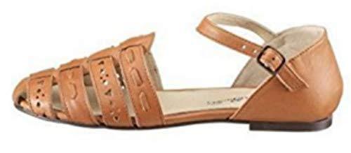 Eddie Bauer Sandale Damen Leder Cognac Gr. 37