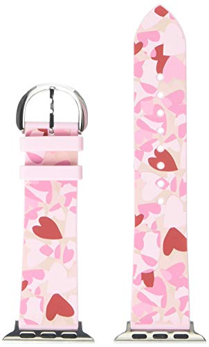 Kate Spade New York Interchangeable Apple Watch Strap in Silicone KSS0050 Pink heart print