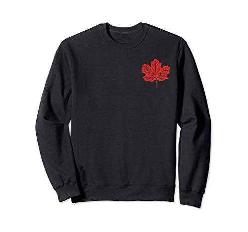 Canadian Maple Leaf Chest Logo Vintage Flag Canada Hockey Sweatshirt