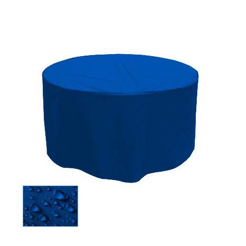 Holi Europe Housse de Table de Jardin Gartenstuhl-Kissen Housse de Protection Premium Rond Bleu Ø 100 cm x H 25 cm