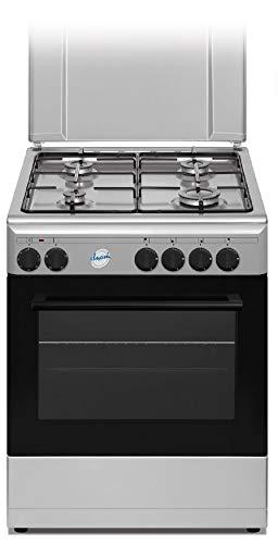 Cucina a Gas con Forno elettrico 60x60 cm N° 4 Fuochi, Bianco
