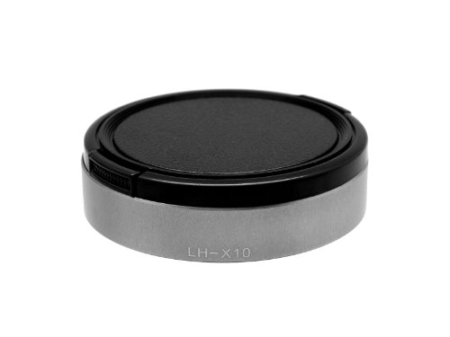 Photo Plus Lens Hood/Lens Cap for Fujifilm X30 X20 X10 Silver