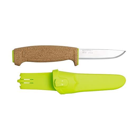 """Morakniv Floating Knife - Fine Edge Stainless Fixed Blade - Green, 3.7"""""""