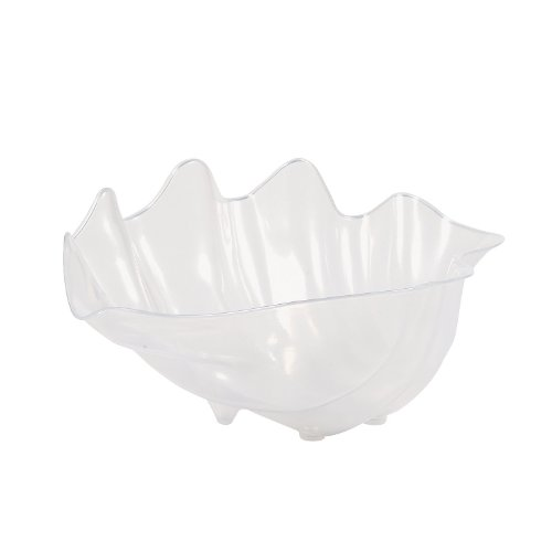 Plastic Seashell Bowl - 18 Inches - Fun Shell Shaped Punch Serving Bowl - Sea Party Supplies