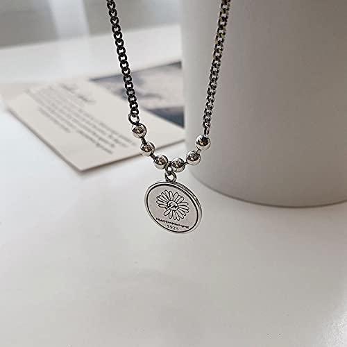 N\C Collares para Mujer -Meteorito De Plata De Ley 925, Textura Irregular Creativa, Colgante Elegante para Mujer, Collar, Joyería De La Amistad, Joyería Exquisita Elegante
